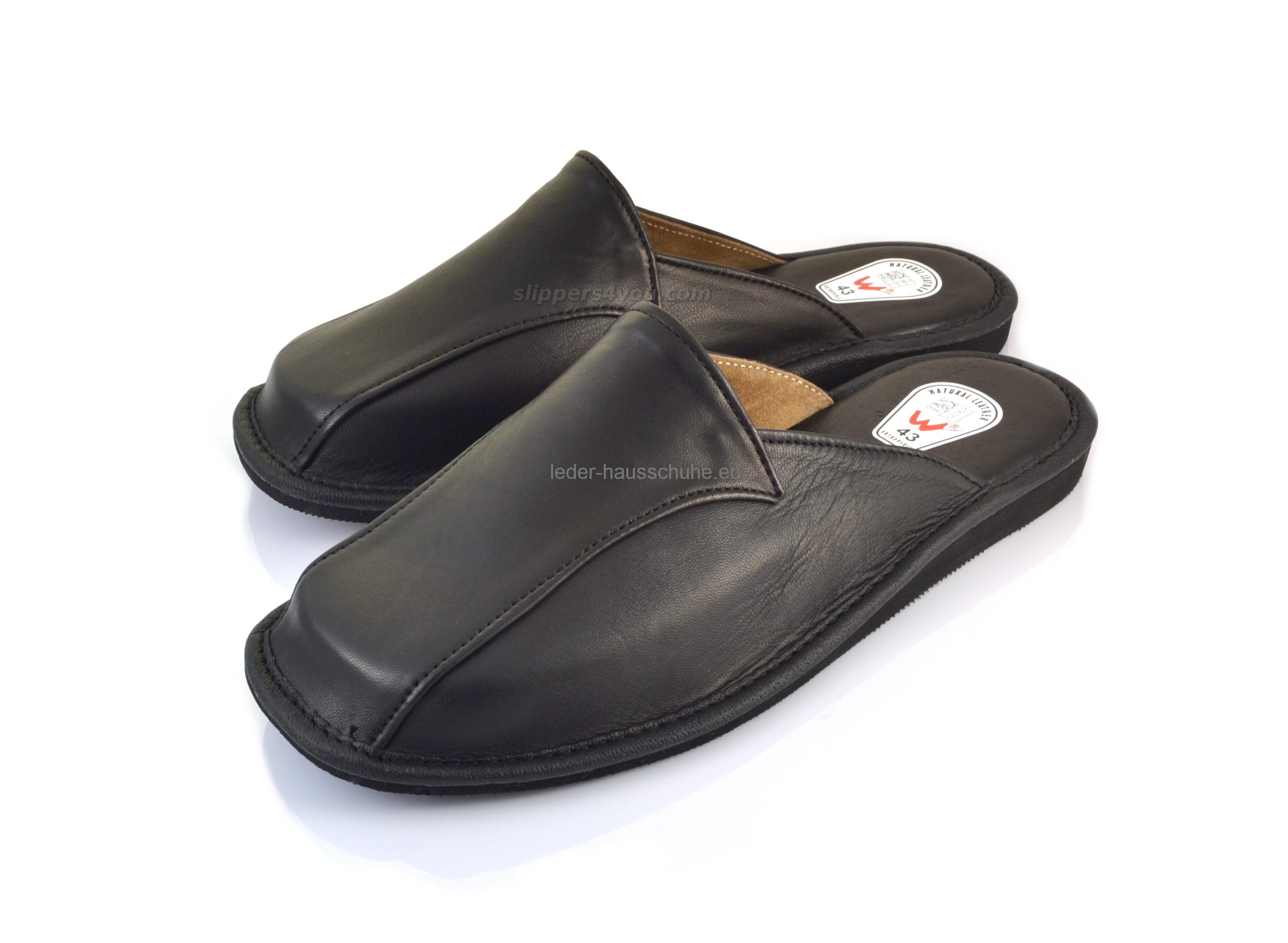 promo code 412de f2dd5 EXKLUSIVE Damen Pantoffeln - Hausschuhe aus Leder (173-pd)